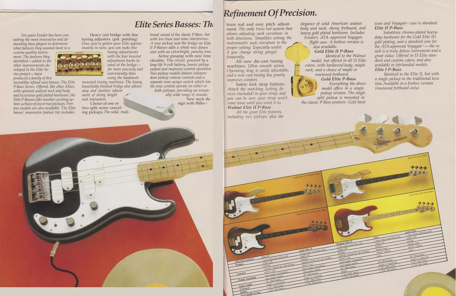 Fender Precision Elite Bass 2 Humbuckers Coil Split Wiring Diagram For People Who Played A John Deacon Of Queen Playing On His Candy Apple Red Gold I