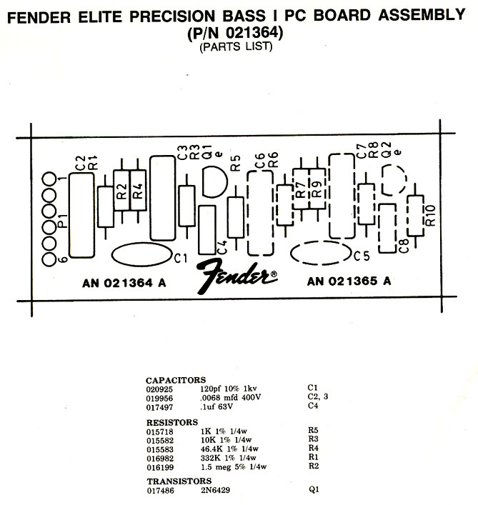 Beautiful Fender Jazz Bass Schematic Pictures - Everything You Need ...