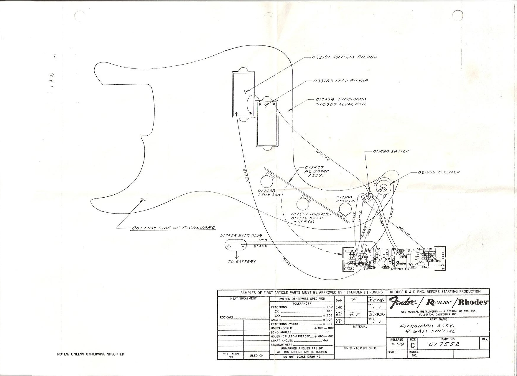 Fender Elite Stratocaster Wiring Diagram Auto Electrical Mods Precision Special Bass 1980